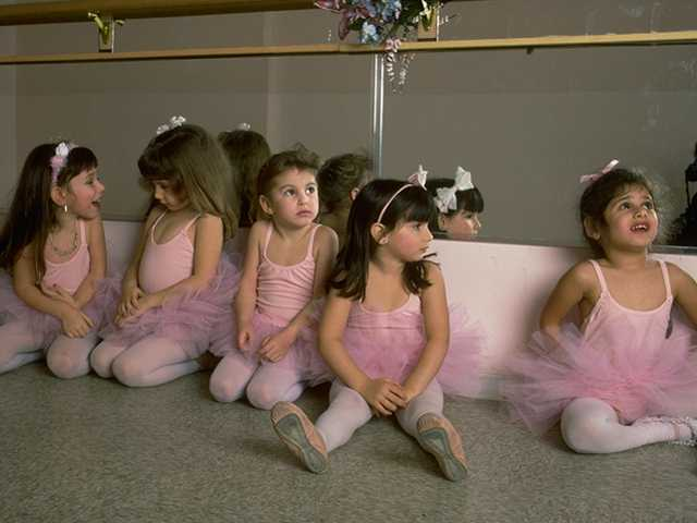 tiny ballerinas in pink tutus