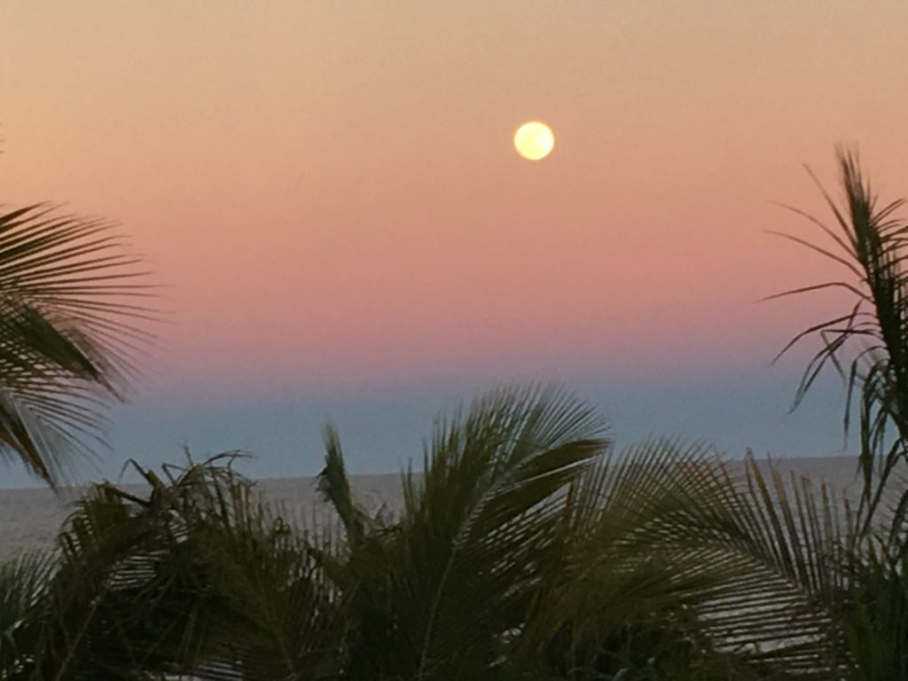 Full Moon Rising Over the Sea of Cortez